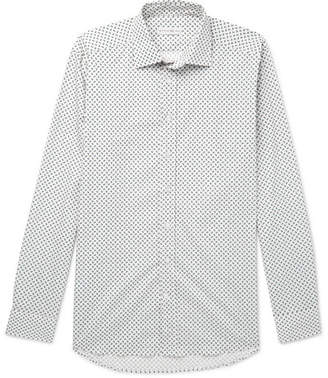 Etro Slim-Fit Paisley-Print Stretch-Cotton Poplin Shirt - Off-white