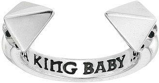 King Baby Studio - Open Ring w/ Pyramids Ring $135 thestylecure.com