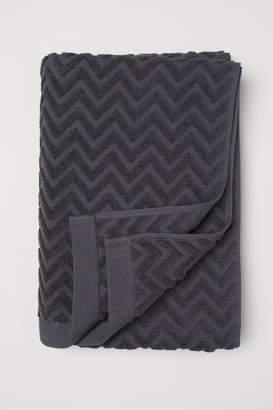 H&M Jacquard-patterned Bath Towel - Gray