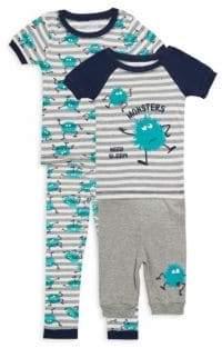 Little Boy's Four-Piece Monster Pajama Set