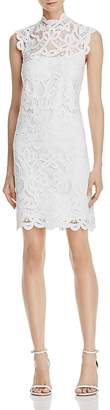 Laundry by Shelli Segal Mock-Neck Lace Dress $168 thestylecure.com