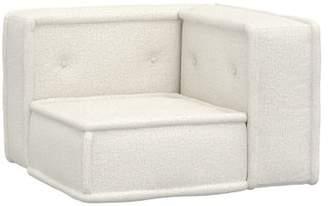 Pottery Barn Teen Cushy Lounge Corner Chair, Tweed Ivory, IDS