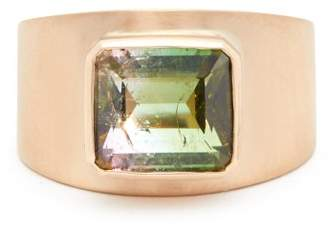 Irene Neuwirth 18kt Brushed Rose Gold & Tourmaline Ring - Womens - Rose Gold