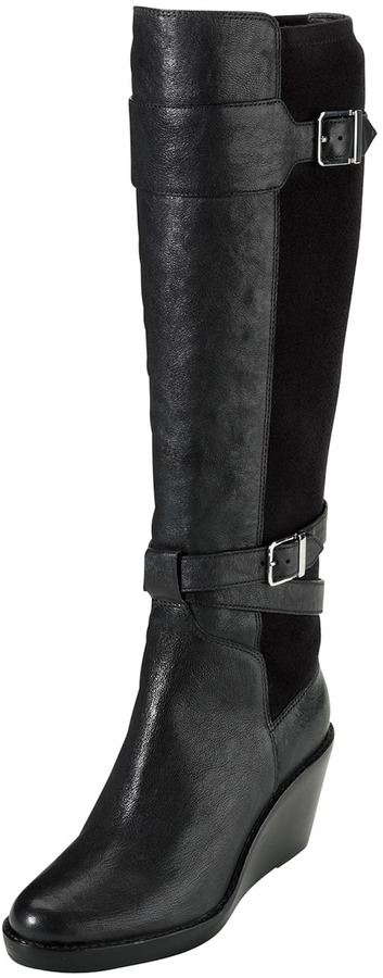 Cole Haan Patricia Leather Wedge Boot, Black