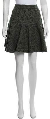 Dolce & Gabbana Tweed Knee-Length Skirt Green Tweed Knee-Length Skirt