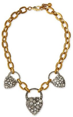 Lulu Frost Blackheart Rhinestone Necklace $375 thestylecure.com