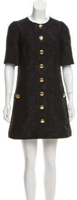 Dolce & Gabbana Jacquard Short Sleeve Dress