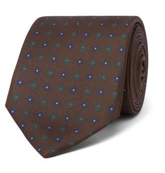 Drakes Drake's - 8cm Printed Silk Tie