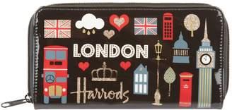 Harrods Glitter London Wallet