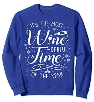 Wine Ugly Christmas Sweater Xmas - The Most Winederful Time