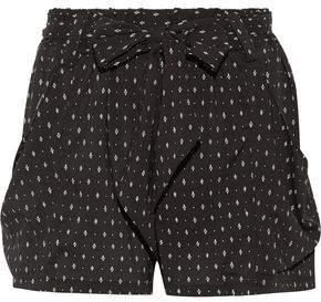 Hatch Stroll Printed Stretch-Crepe Shorts