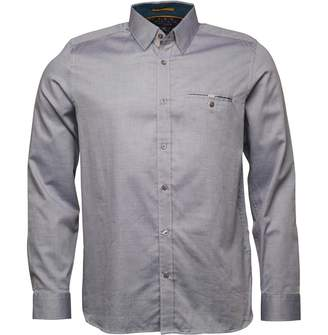 0ad082266784 Ted Baker Mens The Funk Long Sleeve Oxford Shirt Blue