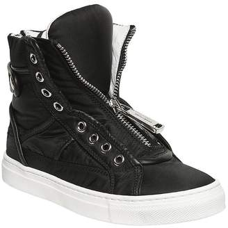 DSQUARED2 Nylon & Nappa Leather High Top Sneakers