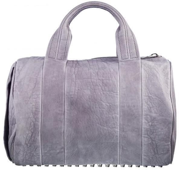 Alexander Wang - Grey Rocco Mini Duffel with Silver Studs PRE-SALE