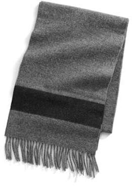 Hudson's Bay Company Grey Stripe Wool Scarf