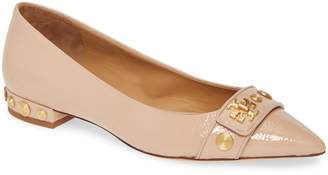 Tory Burch Kira Studded Pointy Toe Flat