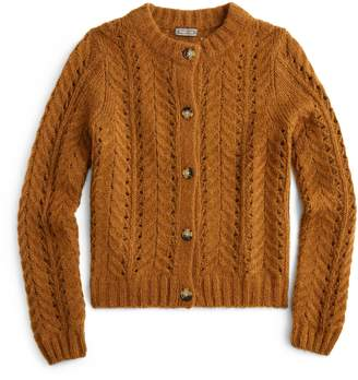 J.Crew Point Sur Pointelle Knit Cardigan