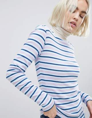 Mads Norgaard Organic Cotton Striped Long Sleeve Top