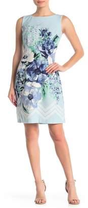 Sandra Darren Floral Sleeveless Sheath Dress
