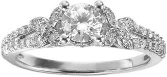 Vera Wang Simply Vera Diamond Butterfly Engagement Ring in 14k White Gold (3/4 ct. T.W.)