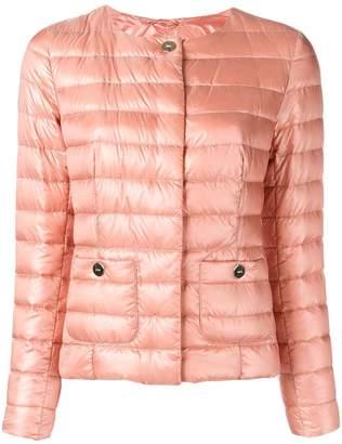 Herno padded round neck jacket