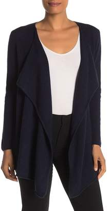 Magaschoni M BY Draped Long Sleeve Cashmere Cardigan
