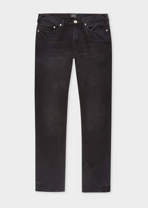 Paul Smith Men's Tapered-Fit Mid-Wash 'Black Stretch' Denim Jeans