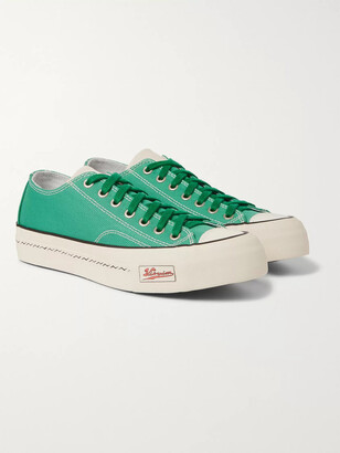 Visvim Skagway Leather-Trimmed Canvas Sneakers