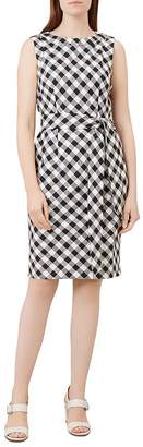 Hobbs London Amalfi Tie-Waist Gingham Dress