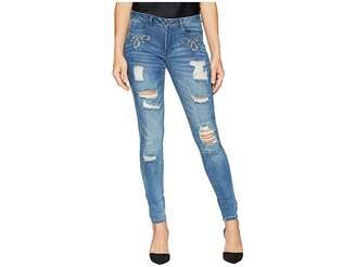 Bebe Heartbreaker Skinny in Flat Indigo Women's Jeans