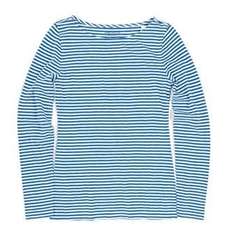 J.Crew Mercantile Women's Long Sleeve Striped Boatneck T-Shirt