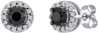 Black Diamond FINE JEWELRY 1/2 CT. T.W. White and Color-Enhanced Stud Earrings