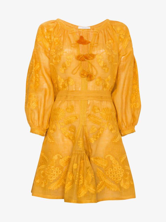 Vita Kin Grapevine Linen Mini Dress