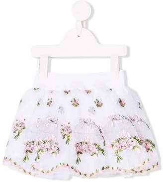 MonnaLisa floral embroidery skirt