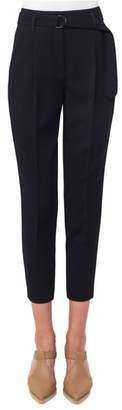 Akris Punto Fred Wool Gabardine Crop Pants