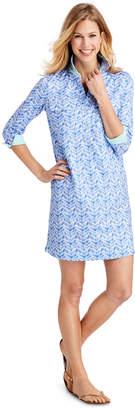 Vineyard Vines UPF Linear Whale Tail Shirt Dress
