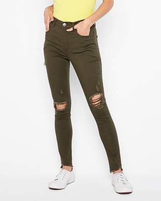 Express High Waisted Ripped Supersoft Leggings