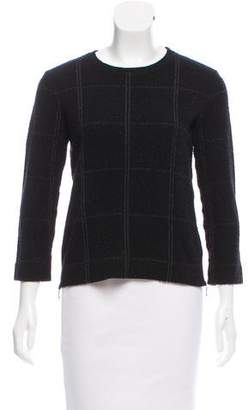 Reiss Checker Print Long Sleeve Sweater
