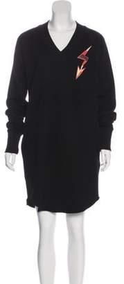 Givenchy Printed Sweatshirt Dress Black Printed Sweatshirt Dress
