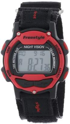 Freestyle Unisex 102284 Predator Red Detail Digital Canvas Velcro Watch