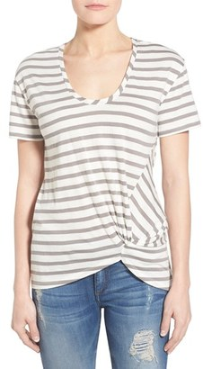 Women's Halogen Knot Front Tee $34 thestylecure.com