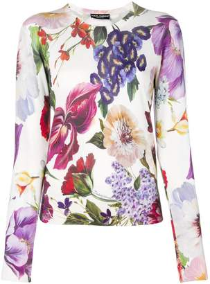 Dolce & Gabbana floral print sweater