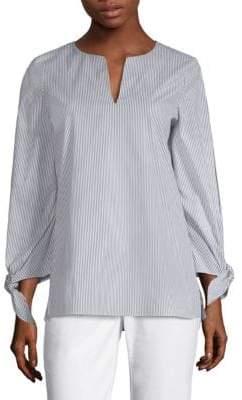 Lafayette 148 New York Khloe Tie-Sleeve Blouse