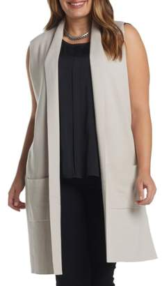 Tart Melva Cotton & Cashmere Open Front Sweater Vest