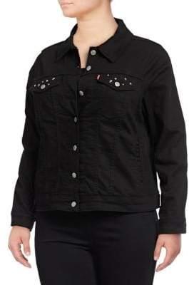 Levi's Plus Embellished Denim Trucker Jacket