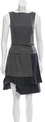 Oscar de la Renta Tiered Wool Dress