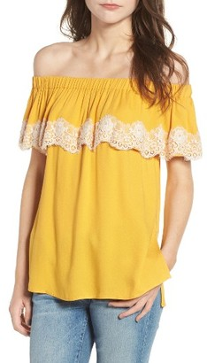 Women's Ella Moss Trinity Off The Shoulder Top $148 thestylecure.com
