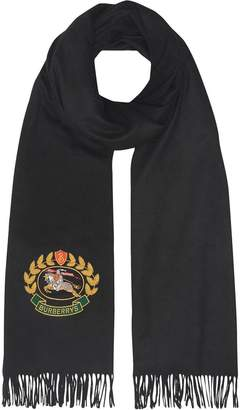 Burberry The Large Classic Cashmere Scarf with Archive Logo