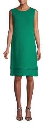 Oscar de la Renta Scalloped Sleeveless Shift Dress