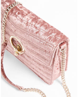 Express Velvet O-ring Shoulder Bag $69.90 thestylecure.com